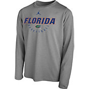 Jordan Youth Florida Gators Grey Legend Basketball Long Sleeve Tee