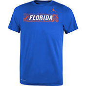 Jordan Youth Florida Gators Blue Football Sideline Legend T-Shirt