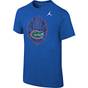 Jordan Boys' Florida Gators Blue Football Icon T-Shirt