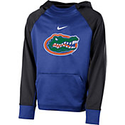 Nike Youth Florida Gators Blue Therma Color Block Hoodie