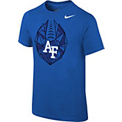 Nike Youth Air Force Falcons Blue Football Icon T-Shirt