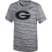 Nike Youth Georgia Bulldogs Velocity Heather Football Dri-FIT Travel Legend T-Shirt