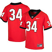 Nike Youth Georgia Bulldogs #34 Red Game Football Jersey