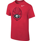 Nike Youth Georgia Bulldogs Red Football Icon T-Shirt