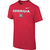 Nike Youth Georgia Bulldogs Red Football Dri-FIT Facility T-Shirt