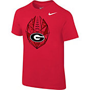 Nike Boys' Georgia Bulldogs Red Football Icon T-Shirt