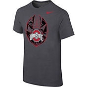 Nike Youth Ohio State Buckeyes Anthracite Football Icon T-Shirt