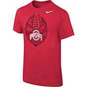 Nike Boys' Ohio State Buckeyes Scarlet Football Icon T-Shirt