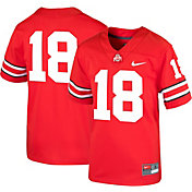 Nike Boys' Ohio State Buckeyes #18 Scarlet Game Football Jersey