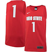 Nike Youth Ohio State Buckeyes #1 Scarlet Replica ELITE Basketball Jersey