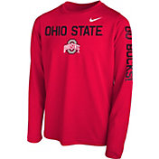 Nike Youth Scarlet Scarlet Legend Core Long Sleeve Shirt