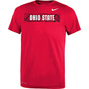Nike Youth Ohio State Buckeyes Scarlet Football Sideline Legend T-Shirt