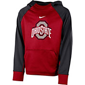 Nike Youth Ohio State Buckeyes Scarlet Therma Color Block Hoodie