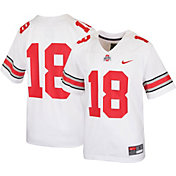 Nike Youth Ohio State Buckeyes #18 Game Football White Jersey