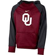 Nike Youth Oklahoma Sooners Crimson Therma Color Block Hoodie