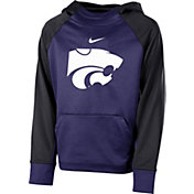 Nike Youth Kansas State Wildcats Purple Therma Color Block Hoodie
