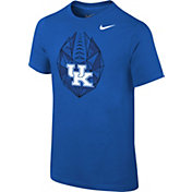 Nike Youth Kentucky Wildcats Blue Football Icon T-Shirt