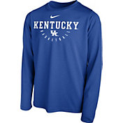 Nike Youth Kentucky Wildcats Blue Legend Basketball Long Sleeve Tee