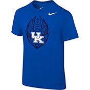 Nike Boys' Kentucky Wildcats Blue Football Icon T-Shirt