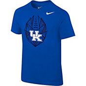 Nike Boys' Kentucky Wildcats Blue Football Icon T-Shirt