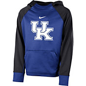 Nike Youth Kentucky Wildcats Blue Therma Color Block Hoodie