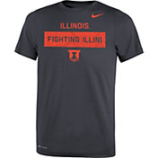 Nike Youth Illinois Fighting Illini Grey Dri-FIT Legend Lift Football T-Shirt