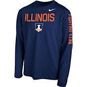 Nike Youth Blue Orange Legend Core Long Sleeve Shirt