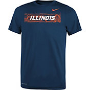 Nike Youth Illinois Fighting Illini Blue Football Sideline Legend T-Shirt