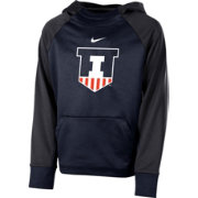 Nike Youth Illinois Fighting Illini Blue Therma Color Block Hoodie