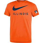 Nike Youth Illinois Fighting Illini Orange DNA Legend T-Shirt