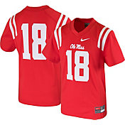 Nike Boys' Ole Miss Rebels #18 Red Game Football Jersey