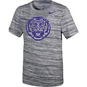 Nike Youth LSU Tigers Velocity Heather Football Dri-FIT Travel Legend T-Shirt