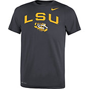 Nike Youth LSU Tigers Grey Legend Logo T-Shirt