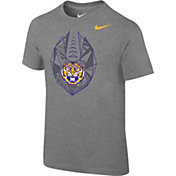 Nike Boys' LSU Tigers Grey Football Icon T-Shirt