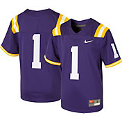 Nike Boys' LSU Tigers #1 Purple Game Football Jersey