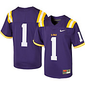Nike Youth LSU Tigers #1 Purple Game Football Jersey