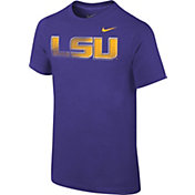 Nike Youth LSU Tigers Purple Logo T-Shirt