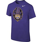 Nike Youth LSU Tigers Purple Football Icon T-Shirt