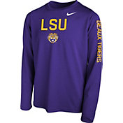 Nike Youth Purple Purple Legend Core Long Sleeve Shirt