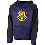 Nike Youth LSU Tigers Purple Therma Color Block Hoodie
