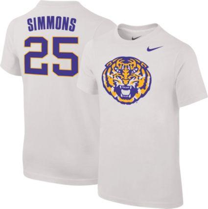 Nike Youth LSU Tigers Ben Simmons  25 Future Star Replica Basketball Jersey  White T-Shirt. noImageFound 58e0e8f03