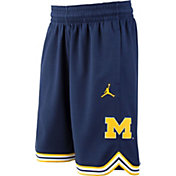 Jordan Youth Michigan Wolverines Blue Replica Basketball Shorts