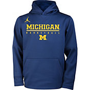 Jordan Youth Michigan Wolverines Blue Legend Basketball Hoodie