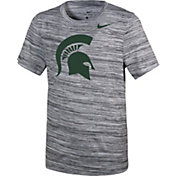 Nike Youth Michigan State Spartans Velocity Heather Football Dri-FIT Travel Legend T-Shirt