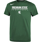 Nike Youth Michigan State Spartans Green Legend Basketball T-Shirt