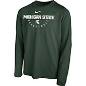 Nike Youth Michigan State Spartans Green Legend Basketball Long Sleeve Tee
