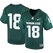 Nike Youth Michigan State Spartans #18 Green Game Football Jersey