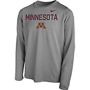 Nike Youth Minnesota Golden Gophers Grey Legend Core Long Sleeve Shirt