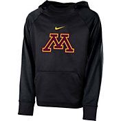 Nike Youth Minnesota Golden Gophers Anthracite Therma Color Block Hoodie