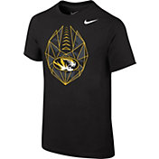 Nike Youth Missouri Tigers Black Football Icon T-Shirt